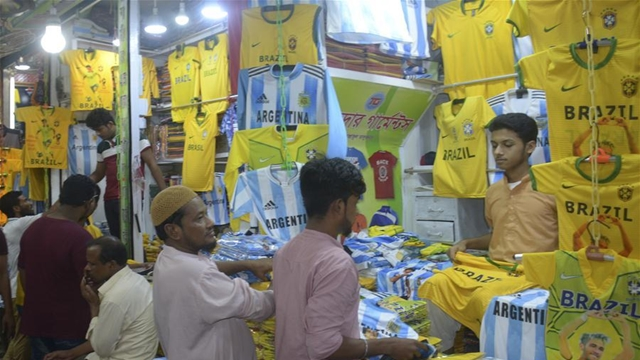 World Cup frenzy in Dhaka markets