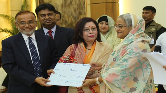 NCC Bank donates Tk 50m to PM's relief fund