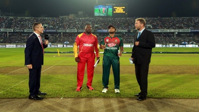 Bangladesh field first after losing toss against Zimbabwe