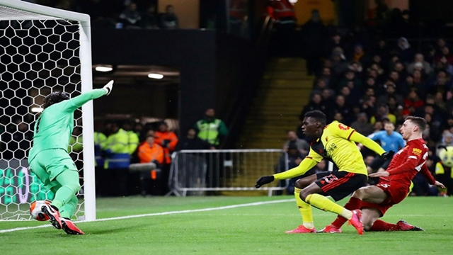 Liverpool's unbeaten run ends in shock 3-0 thrashing at Watford