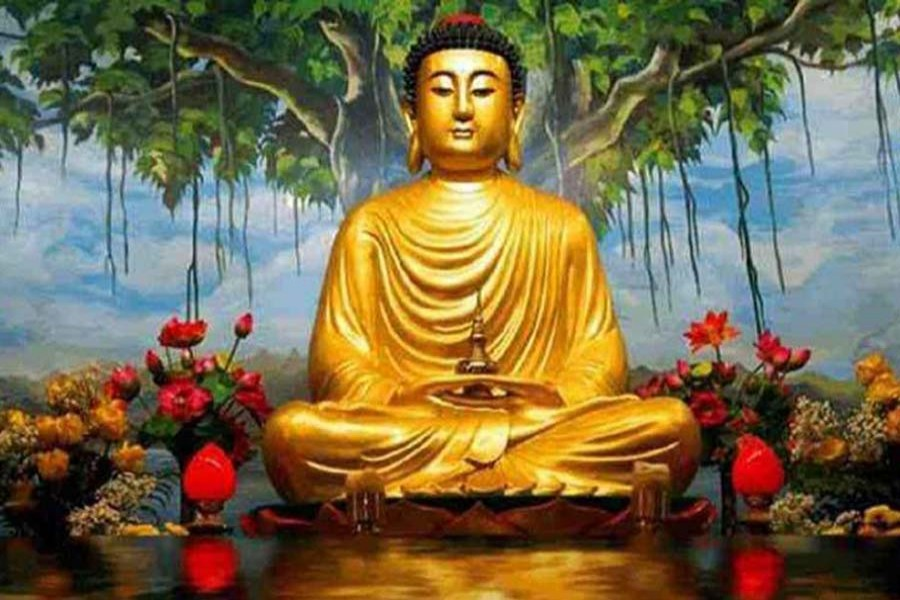 Buddha Purnima being celebrated at home