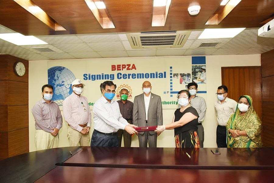 BEPZA signs $56.33m new investment agreement during pandemic