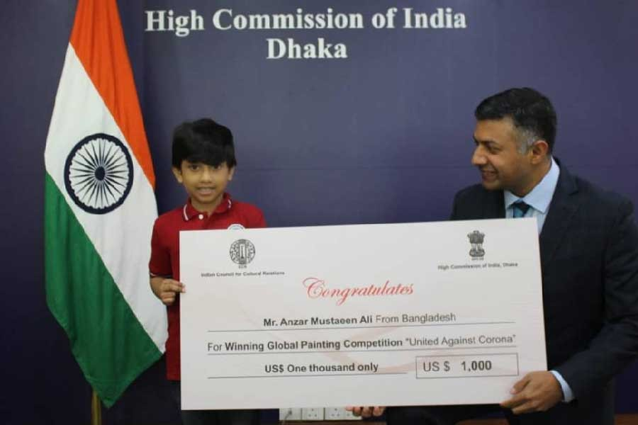 BD boy wins global art contest by ICCR