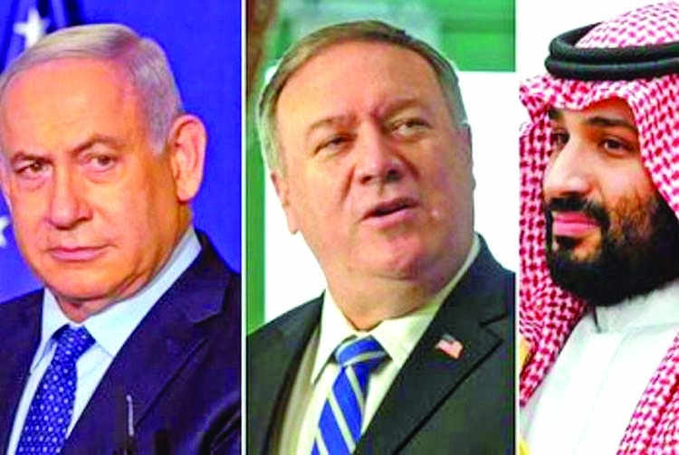 Israeli PM held secret talks in KSA with Pompeo, crown prince