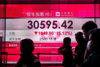 Asian equities track Wall St loss, China-US trade talks in view