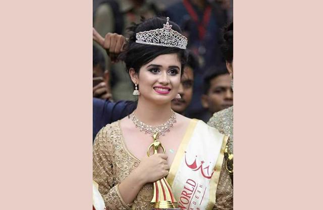 Oishee wins 'Miss World Bangladesh' crown