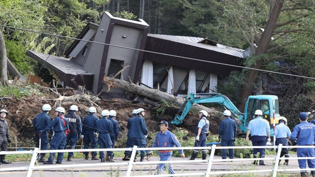 Landslides after powerful 6.6 magnitude quake hits Japan's Hokkaido
