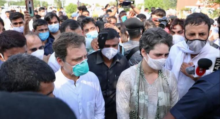 Rahul, Priyanka Gandhi detained