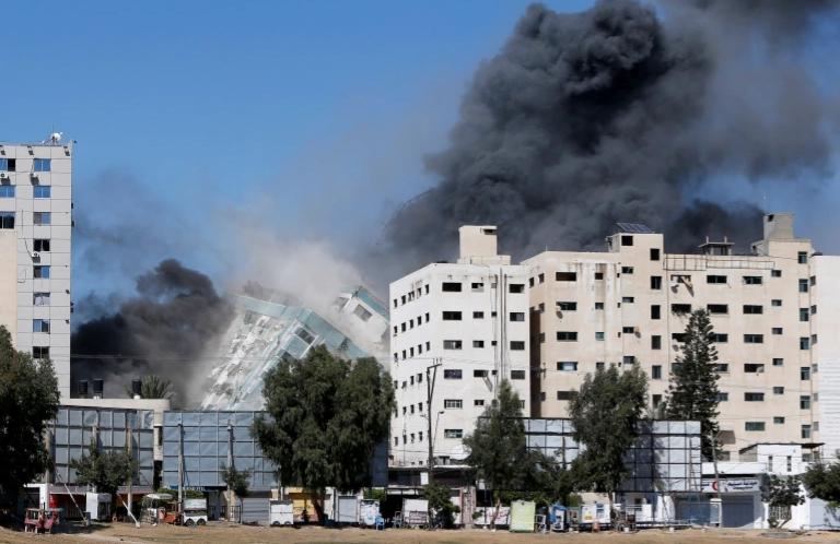 Israel demolishes AP, Al Jazeera offices in Gaza