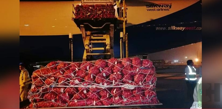 First consignment of onion arrives via airways