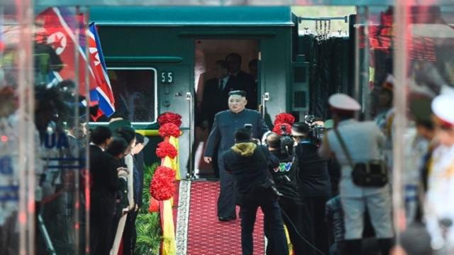 Kim arrives for nuclear summit with Trump after marathon train trip