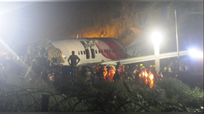 Air India Express flight skids off runway, 20 killed, dozens hurt