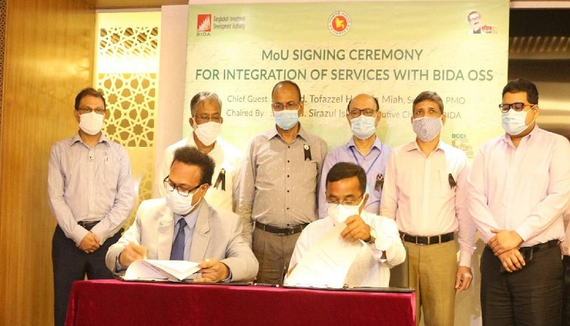 BIDA, DCCI sign MoU for integrating services with OSS