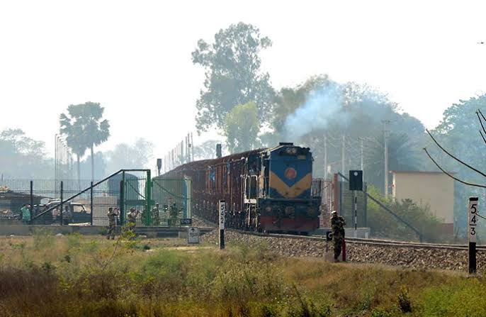 First container-train arrives from India
