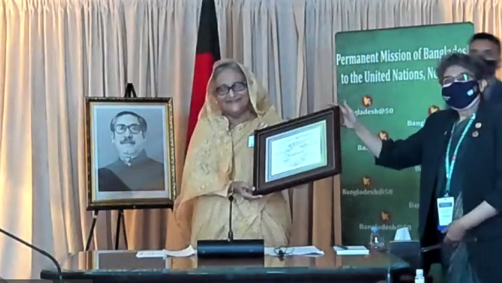 UN-SDSN confers Bangladesh PM with SDG Progress Award