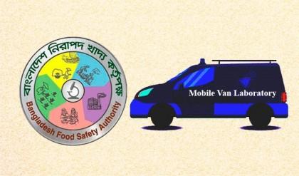 Mobile van-laboratory to patrol for ensuring food safety