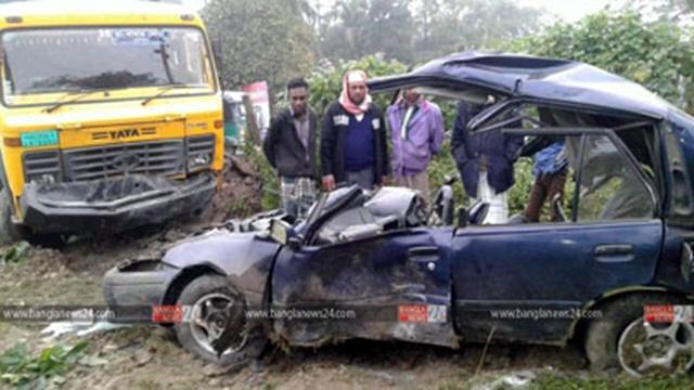 Cop killed in Savar road crash On a duty