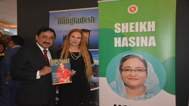 Netherlands-based Diplomat Magazine runs cover story featuring Hasina