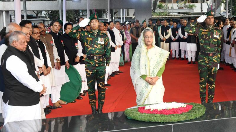 PM pays homage to Bangabandhu on his birthday