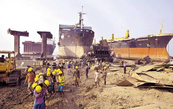 Ship breaking drops 71pc in Q2