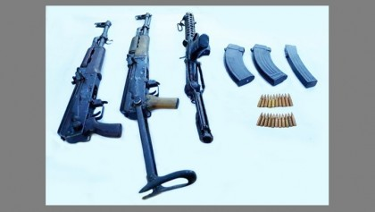 Army recovers heavy arms from Sajek