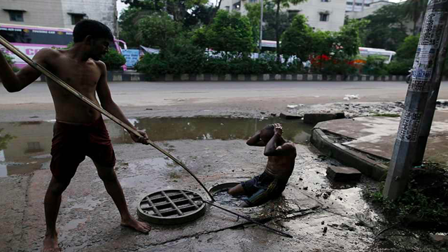 Dhaka city exists with no effective sewerage system