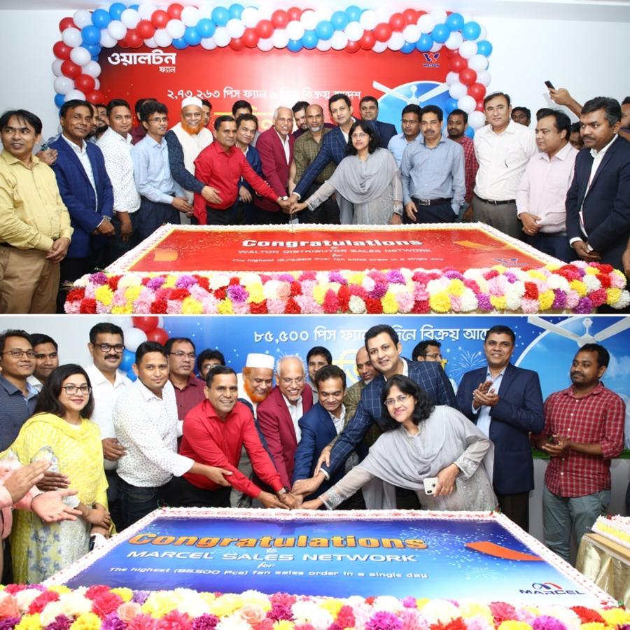 3.5 lakh Walton group's fan sold in a single day