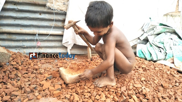Children in risky work demanding livelihood..khilgoan Bagicha,Dhaka..