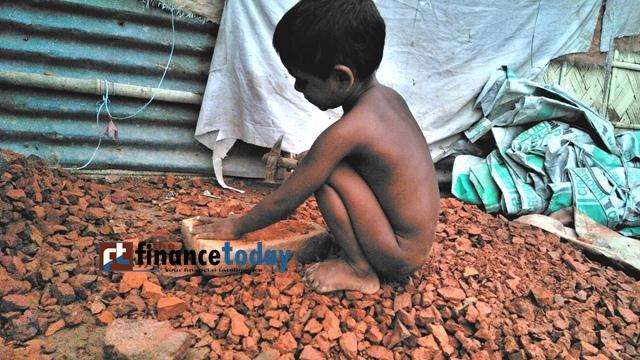 Children in risky work demanding livelihood..khilgoan Bagicha,Dhaka..