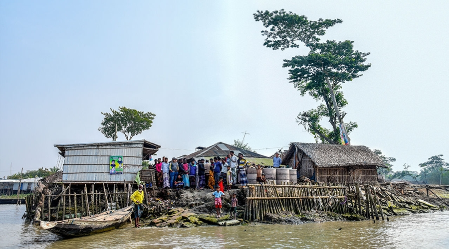 Community participation ensures sustainable coastal embankment
