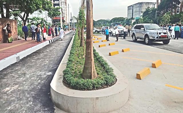 Dhaka's first bike lane in the offing