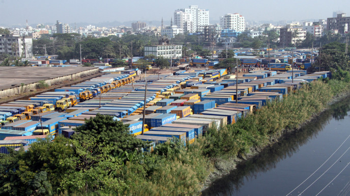 Containers are at standstill in Nimtala Terminal