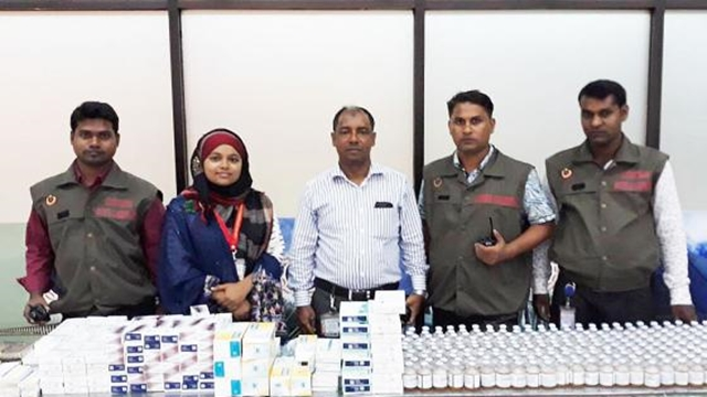 Seized huge amount of drugs at Shahjalal Airport