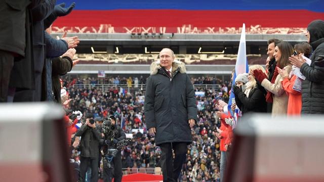 Putin thanks voters after landslide election win