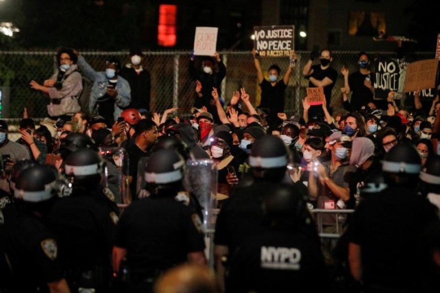 Protesters clash with police in New York City in latest demonstrations