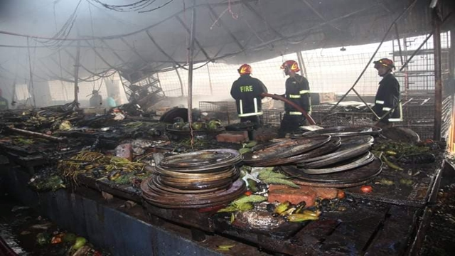 Fire at Malibagh kitchen market