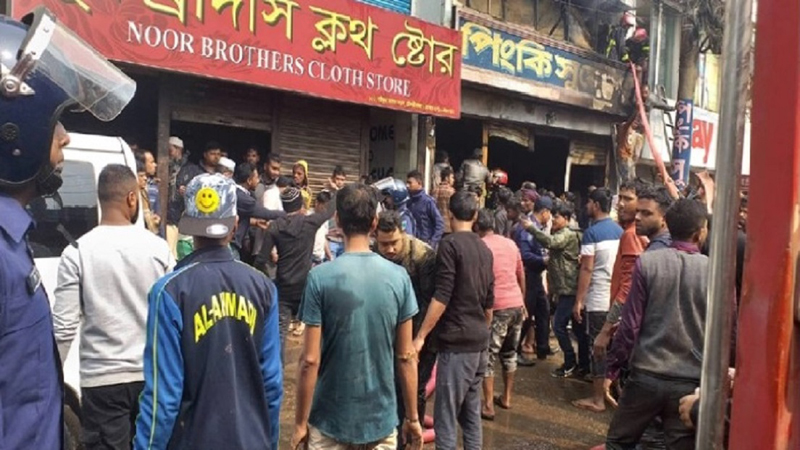 5 of a family burned to death in Moulvibazar fire