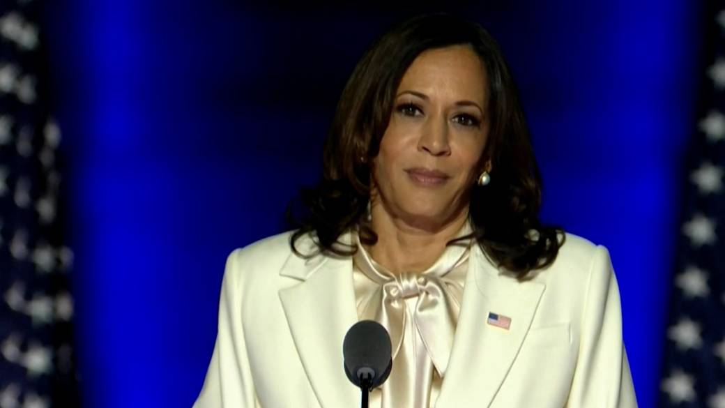 Harris pays tribute to Black women in 1st speech as VP-elect