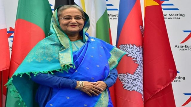 PM Sheikh Hasina given red carpet reception in Nepal