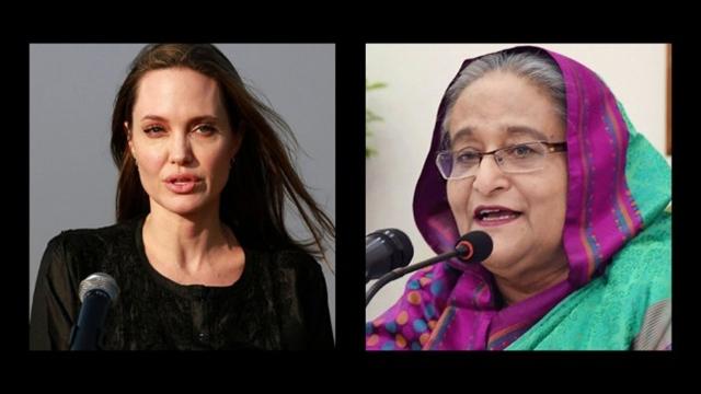 Jolie lauds Hasina in letter appreciating generosity towards Rohingyas