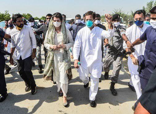 Congress leaders Rahul, Priyanka released