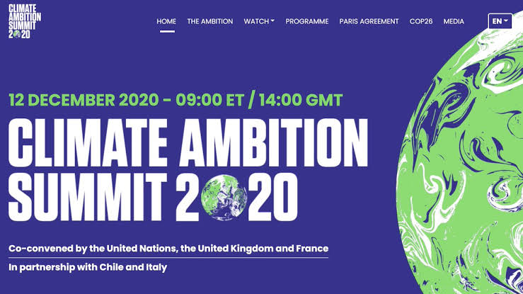 Climate Ambition Summit Dec 12