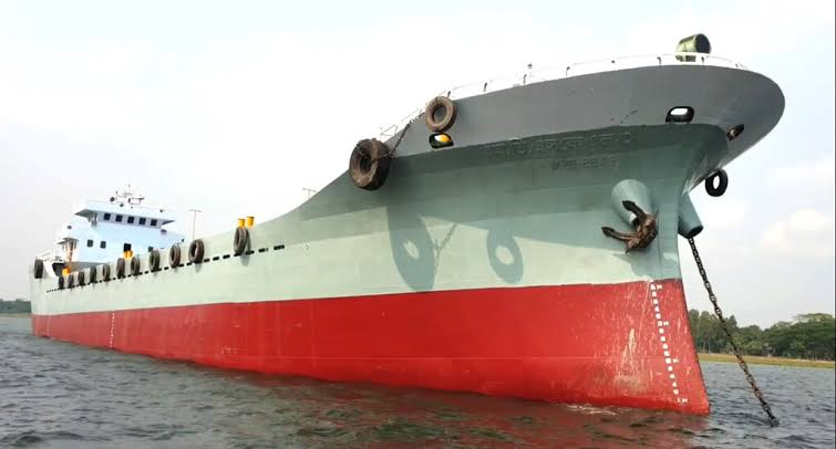 Errant cargo vessel seized, 14 held