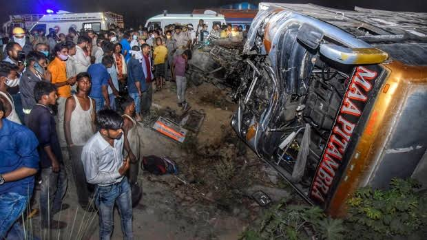 17 killed, 20 hurt as bus collides in India's Kanpur