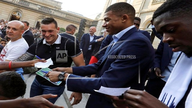 Mbappe donating bonus of about $350,000