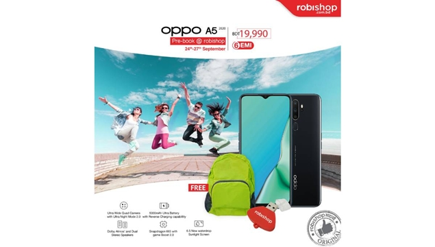 Robishop starts pre-booking of OPPO A5 2020