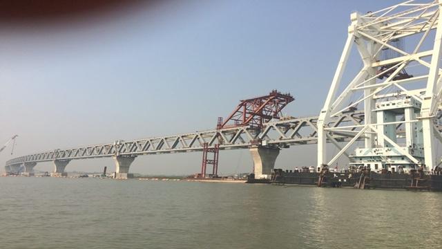Padma Bridge's 11th span installed