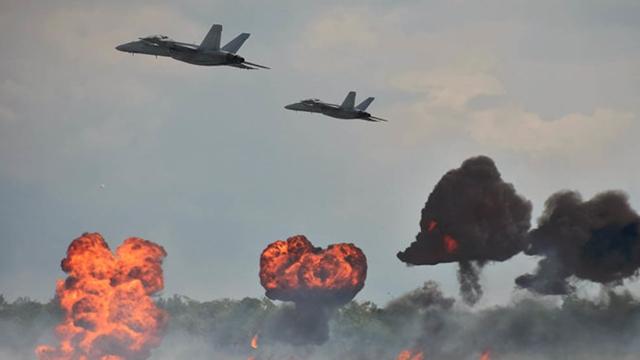 Israeli warplanes hit Syrian air base; 14 dead