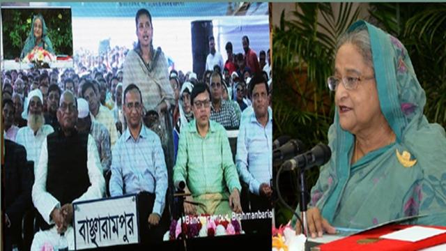 PM opens two bridges on Teesta, Titas rivers