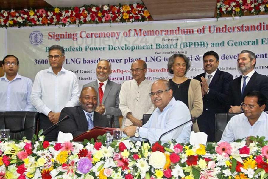 BPDB, GE sign deal for Moheshkhali power plant